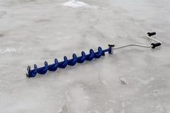 Ice drill Stock Image