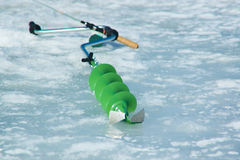 Ice-drill Stock Photography