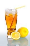 Ice drink. A cup of ice lemon tea(drink) and fresh lemon Stock Image