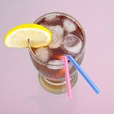 Ice drink for couple Royalty Free Stock Photography