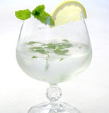 Ice drink with lemon and mint Stock Photo