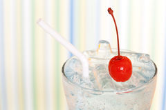 Ice drink whith red cherry Stock Image