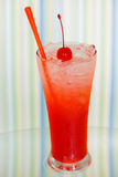Ice drink whith red cherry Royalty Free Stock Photography