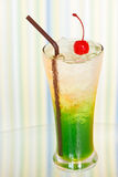 Ice drink whith red cherry Stock Photo