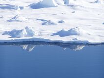 Ice edge. Ice floe on a silent calm day in Antarctica Royalty Free Stock Photos