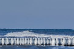 WINTER. Ice on edge of the winter sea royalty free stock image