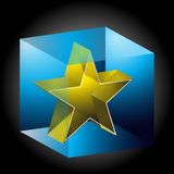 Ice Encased Star Royalty Free Stock Images