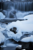 Ice fall. Frozen water falls downed nearby my heart Royalty Free Stock Photography