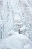Ice fall. The close-up of ice fall Stock Images