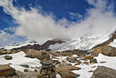 Ice fall. Of lys glacier on monte rosa Royalty Free Stock Images