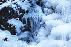 Ice fall background Stock Photo