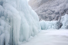 Ice fall Stock Photo