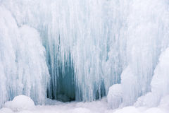 Ice fall and ice cave Royalty Free Stock Photo