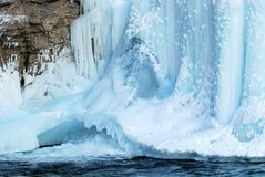 Ice Fall in Johnson Canyon Royalty Free Stock Image