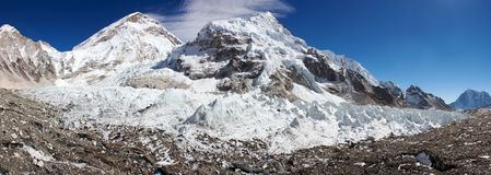 Ice-fall khumbu Stock Image