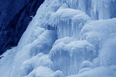 Ice-fall. In mountains in the wild, north China Stock Photo