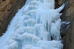 Ice-fall. In mountains in the wild, north China Royalty Free Stock Image