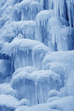 Ice-fall. In mountains in the wild, north China Stock Image