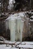 Ice fall, Slovak Paradise National park, Slovakia Royalty Free Stock Photo