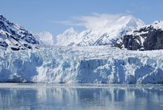 Ice Falling. Ice is melting and falling down in Glacier Bay national park, Alaska Royalty Free Stock Image