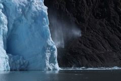 Ice falling off the Glacier. Ice falling off the Spegazzini Glacier, Argentino Lake, Patagonia, Argentina, illustrating climate change Royalty Free Stock Photo
