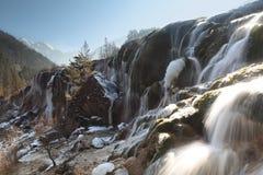 Ice falls of jiuzhai pearl beach. The ice falls of jiuzhaigou in winter Stock Photography