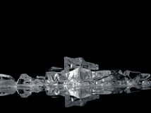 Ice fantasy on black Royalty Free Stock Photography