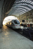 Fast speed train ICE parked Royalty Free Stock Photography