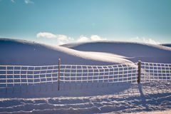 Ice Fence Stock Photo