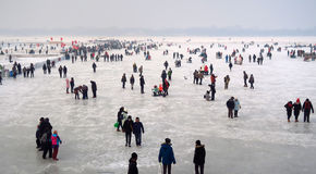 Ice Festival in Harbin, China Royalty Free Stock Images