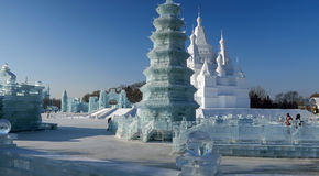 Ice Festival in Harbin, China Stock Image