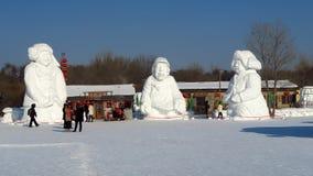 Ice Festival in Harbin, China royalty free stock photos