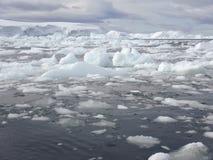 Ice field, Antarctica Stock Photo