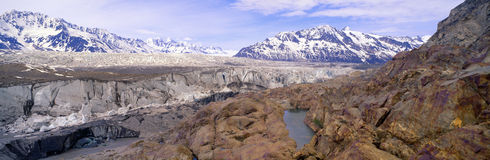 Ice field and glaciers in Wrangell-St. Elias National Part, Alaska Stock Photography