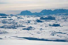 Ice field in Greenland Royalty Free Stock Photos