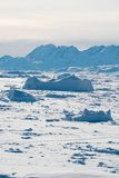 Ice field in Greenland Stock Photos