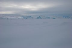 Ice field in Greenland. White out day on Sermilik fjord's ice field in Greenland stock photography