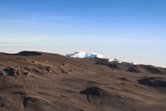 Ice Fields Of Mount Kilimanjaro Viewed At Dawn Royalty Free Stock Images