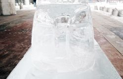 Ice figure shown in Muzeon sculpture park in Moscow. Stock Photography