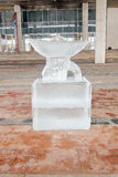 Ice figure shown in Muzeon sculpture park in Moscow. Stock Images