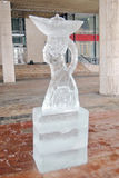 Ice figure shown in Muzeon sculpture park in Moscow. Royalty Free Stock Photography