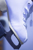 Ice figure skates in store Stock Images