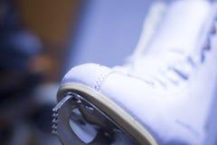 Ice figure skates in store Stock Photos