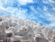 Ice figures. Wonderful sculptures made from ice and above is a blue sky Royalty Free Stock Photos