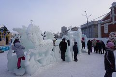 ice figures royalty free stock photography