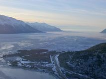Ice filled Cook Inlet Alaska royalty free stock photos
