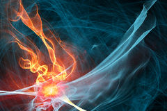 Ice and fire abstract background Stock Photos