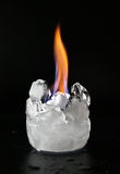 Ice and fire royalty free stock photo