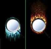 Ice Fire Pan Royalty Free Stock Images