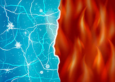 Ice and fire vector illustration. Opposites, contrast. Evil and good. Heat and cold Stock Image